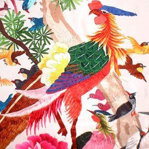 painting of 100 birds