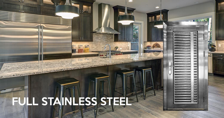 new_edge_stainless_steel_kitchen_door
